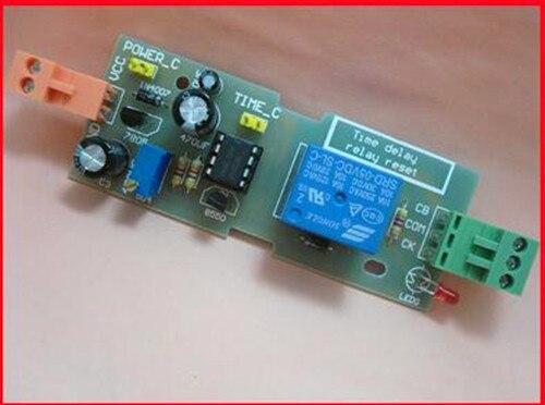 Бесплатная доставка! Мощность-до сброса реле на NE555/NE555 регулируемое время совета Модуль/электронных компонентов
