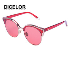DICELOR Marca Diseño Redondo Rojo Flecha Estilo Wayfarer gafas de Sol Polarizadas para Las Mujeres gafas de sol mujer 2017 Recién Llegado de Buena