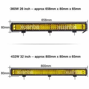 "Image 3 - Barra de luces Led de Triple fila, 12 "", 20"", 23 "", 288W, 12V, 24V, camioneta, barco, camión, Atv, Suv, Marine, 4WD, 4x4, lámpara de Offroad Combo"