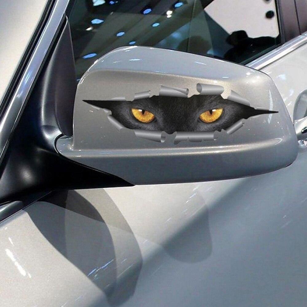Hot Sale 3D Car Styling Funny Cat Eyes Peeking Car Sticker ...