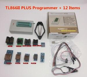 Image 3 - 100% oryginalny TL866II PLUS programator + 24 adaptery + zacisk ic szybki AVR MCU Flash EPROM programator wymień TL866A/CS