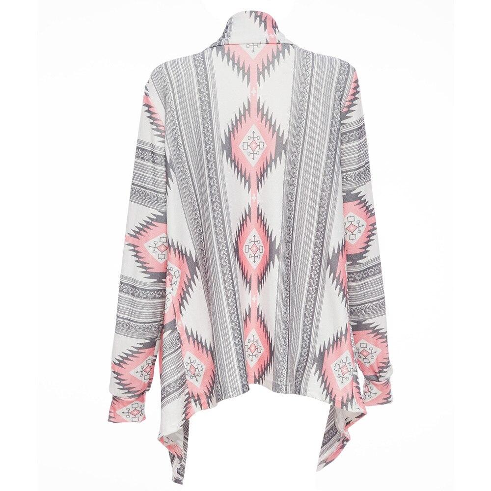 CharMma Fashion Collarless Kimono Cardigan Long Sleeve Poncho Pink ...