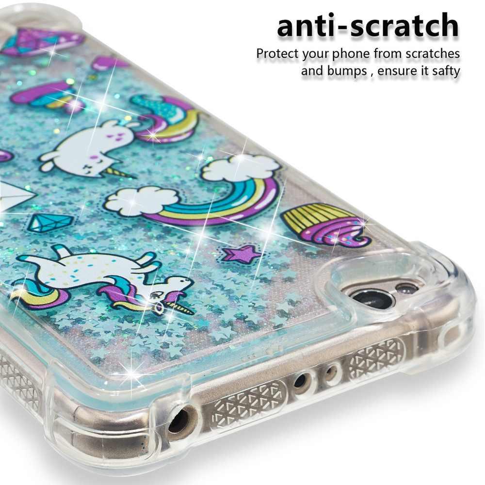 Для Xiaomi 5x чехол Милый Вишневый цветок бабочка пони Алмазный Блестящий жидкий блестящий чехол для телефона redmi 4X 4A 5 plus