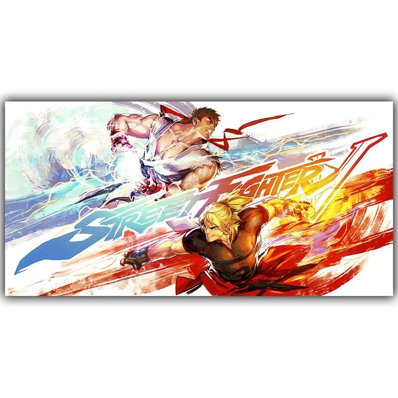 Street Fighter 5 Seide Malerei Kunstdruck Poster Wandmalereien Dekoration Wand-dekor Jungen Schlafzimmer...