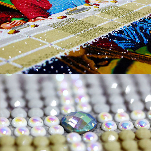 Meian 3D DIY Diamond Embroidery,5D Diamond painting,Diamond mosaic,Last supper,needlework,Crafts,Christmas,decor 1