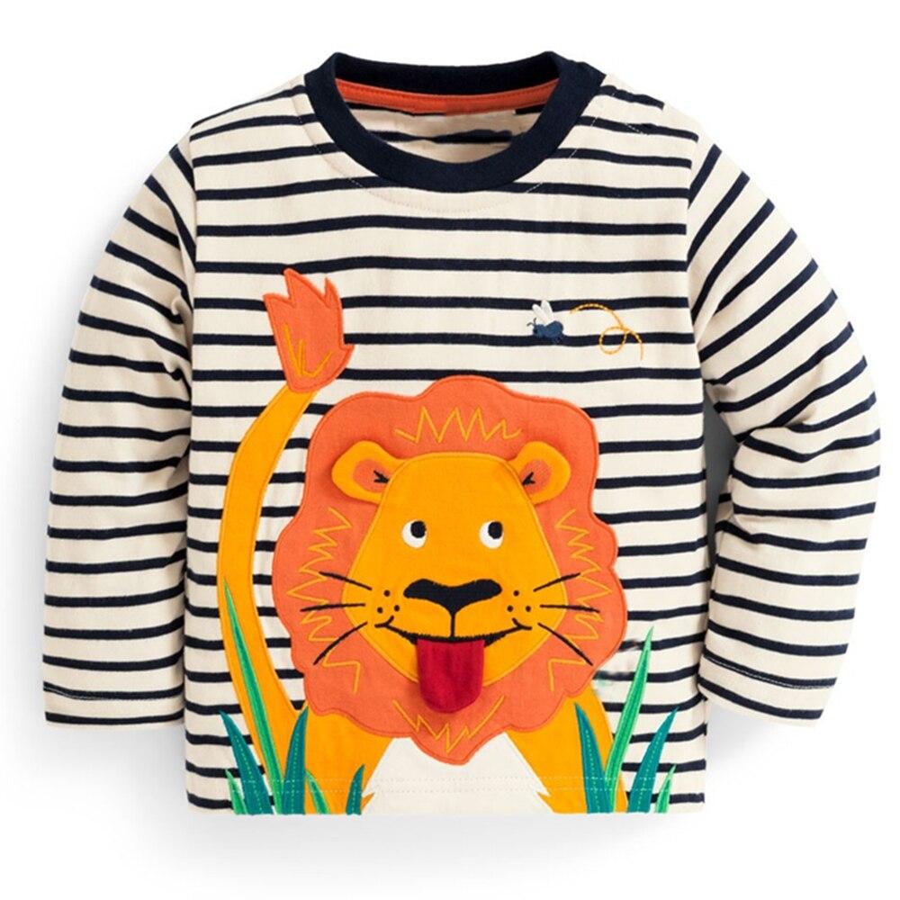 b0551a9ca97296 Kidsalon Crianças camisas de T para Meninos Roupas de Bebê Menino Encabeça  Verão 2019 Nova Crianças T-shirt Animal Applique Algodão Meninos Tees ...