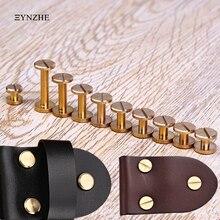 XUNZHE 4-12 мм, 10 шт., для багажа, кожа, металл, для рукоделия, твердый винт, гвоздь, заклепки, двойная плоская головка, ремень, заклепки, медь, отличное качество