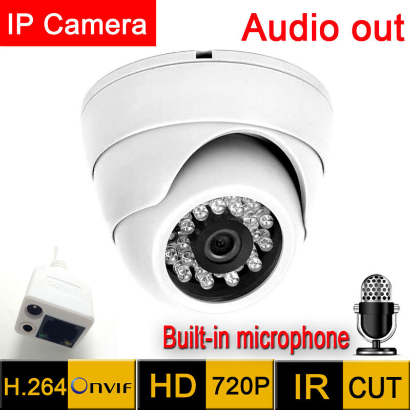 Mini Câmera ip 1280*720 HD Saída de Áudio do Microfone de Segurança indoor demo Night Vision Ir Cut cctv 720 P indoor P2P vigilância