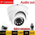 Мини ip-камера 1280*720 HD Микрофон Аудио Ночного Видения Ик cctv Безопасности крытый демо 720 P крытый P2P наблюдения