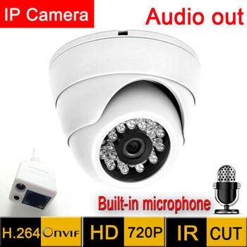 цена на Mini ip Camera 1280*720 HD Microphone Audio Output Security indoor demo Night Vision Ir Cut cctv 720P  indoor P2P surveillance