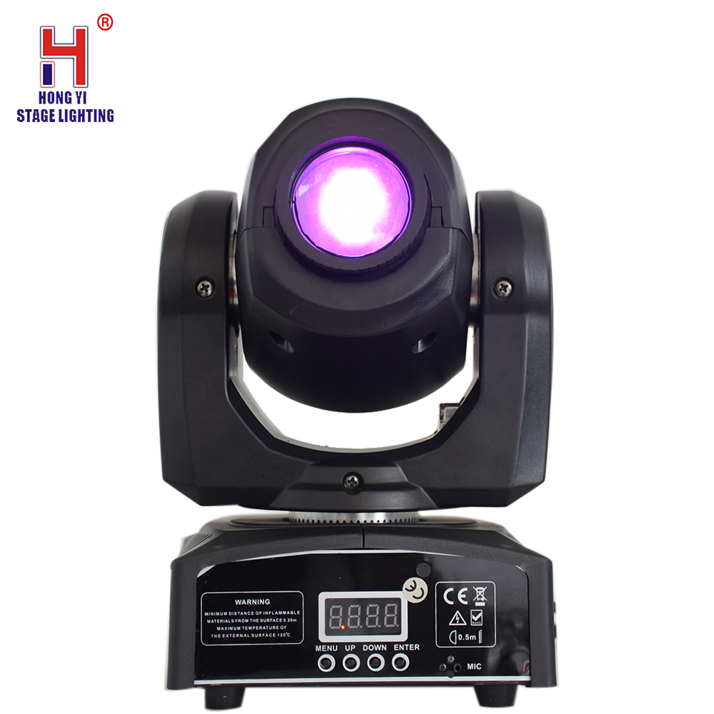 Moving Head Stage Lighting 10W Moving Beam Light  Color And Gobos With DMX For DJ Disco Party Lights