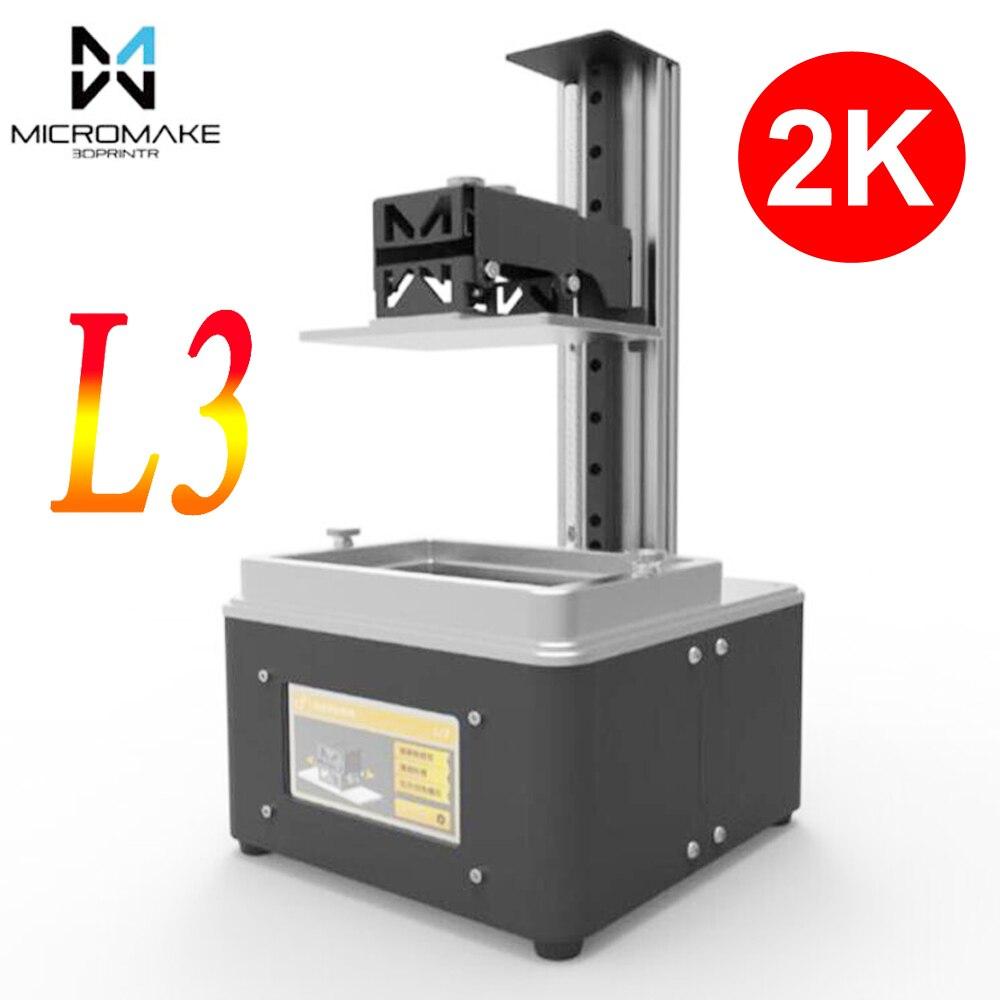Micromake 3d imprimante L3 wifi lumière UV durcissement SLA/LCD/DLP 3d imprimante haute précision 2 k impresora pour Bijoux dentisterie photon