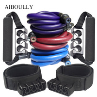 10Pcs Set New Version Proffesional Resistance Band Fitness Elastic Double Desk Latex Tube Yoga Pilates Pull