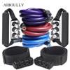 10Pcs Set New Version Proffesional Resistance Band Fitness Elastic Double Desk Latex Tube Yoga Pilates Pull