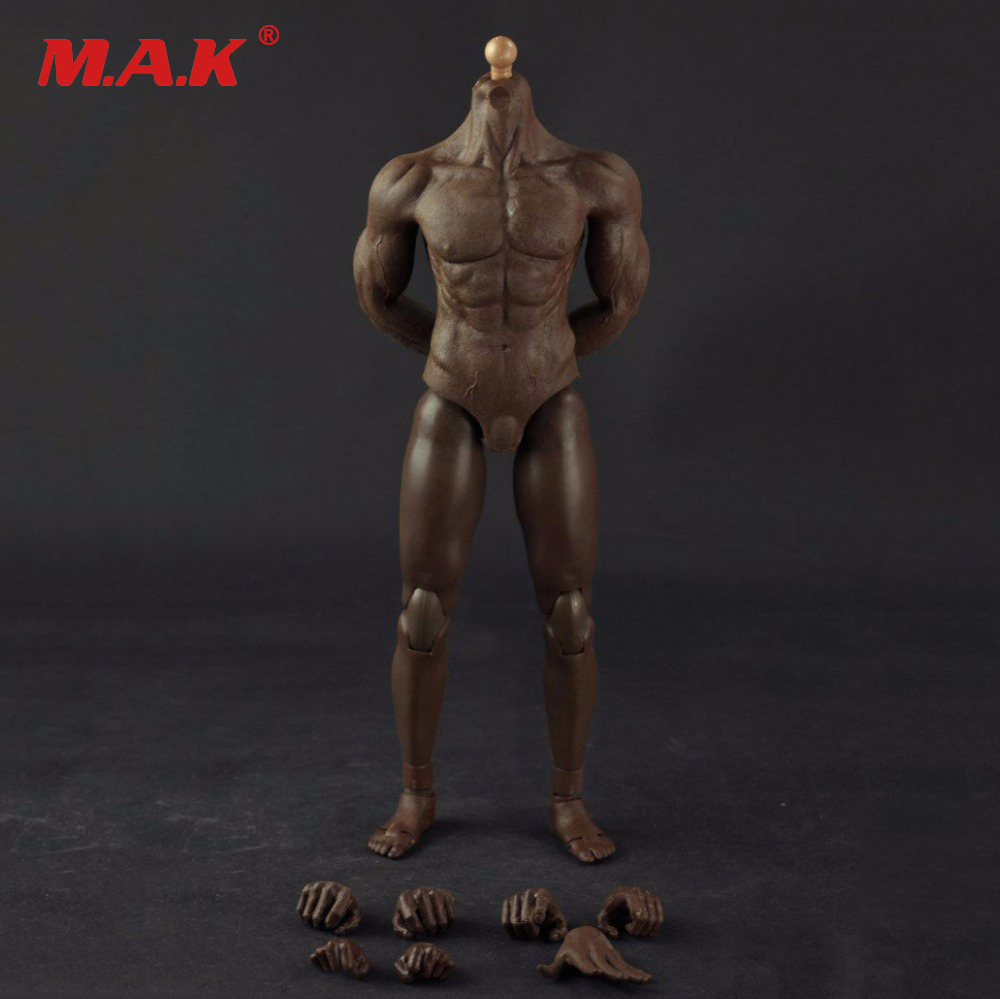 16 black male body Semi-encapsulated 16 Male Black Skin Color Muscular Semi Body Figure for 12 inches DIY Action Figures