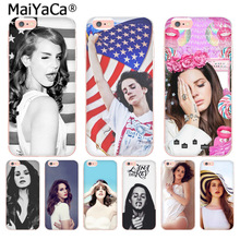 MaiYaCa Lana del Rey lovely Plastic Soft Phone Accessories Case for iPhone 8 7 6 6S Plus X 10 5 5S SE 5C 4 4S Coque Shell shining rhinestone piano pattern plastic back case for iphone 4 4s silver