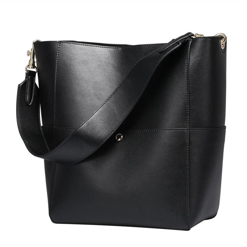 Nesitu High Quality Designer Luxury Black Grey Green Brown Split Leather Women Shoulder Bags Shopping Bag Handbags Tote #M0755