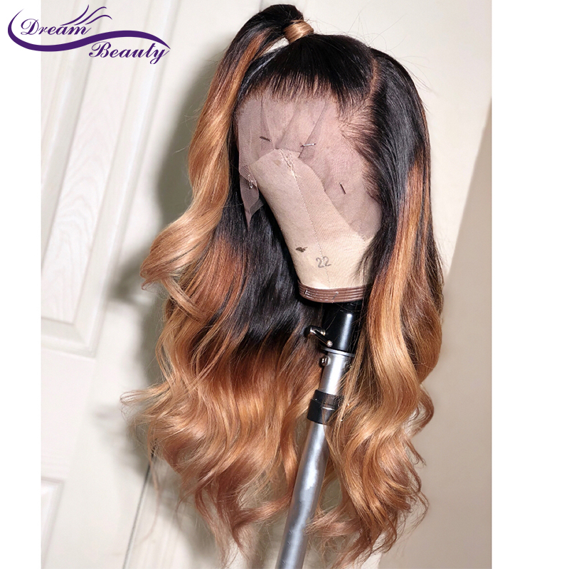 1B 27 Color Honey Blonde Lace Front Wig Brazilian Body Wave Remy Ombre Human Hair Wigs Pre Plucked Bleached Knots Dream Beauty