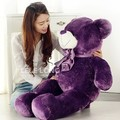 about 140 cm plum teddy bear plush toy bear doll throw pillow gift w4898