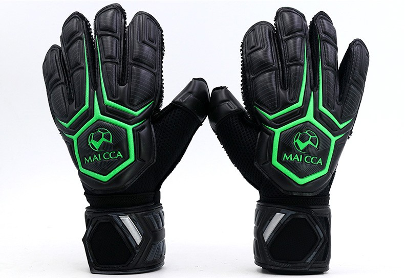 Top quality!Professional Adult Goalkeeper Gloves Finger Protection Thickened Latex Soccer Football Goalie Gloves ,Free shipping! for adult high elastic polyester goalkeeper sets breathable soccer goalie clothing uniforms long sleeve goalkeeper jerseys