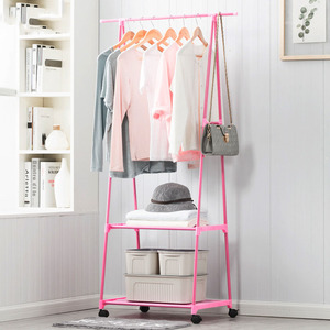 Image 3 - Multi function Triangle Coat Rack Removable Bedroom Hanging Clothes Rack With Wheels Floor Standing Coat Rack Clothes Hanger