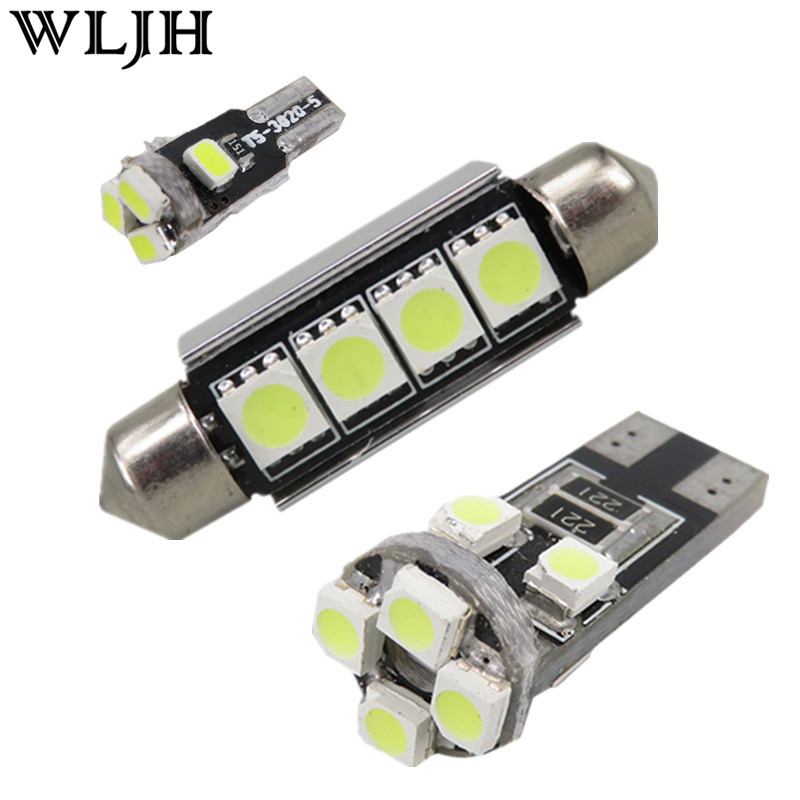 WLJH 19x Canbus Dome Vanity Trunk Footwell LED Bulb for BMW 5 Series 535i 550i 528i F10 M5 LED Car Interior Light Kit 2010+ wljh 2x canbus 20w 1156 ba15s p21w led bulb 4014smd car backup reverse light lamp for bmw 228i 320i 328d 328i 335i m3 x1 x4 2015