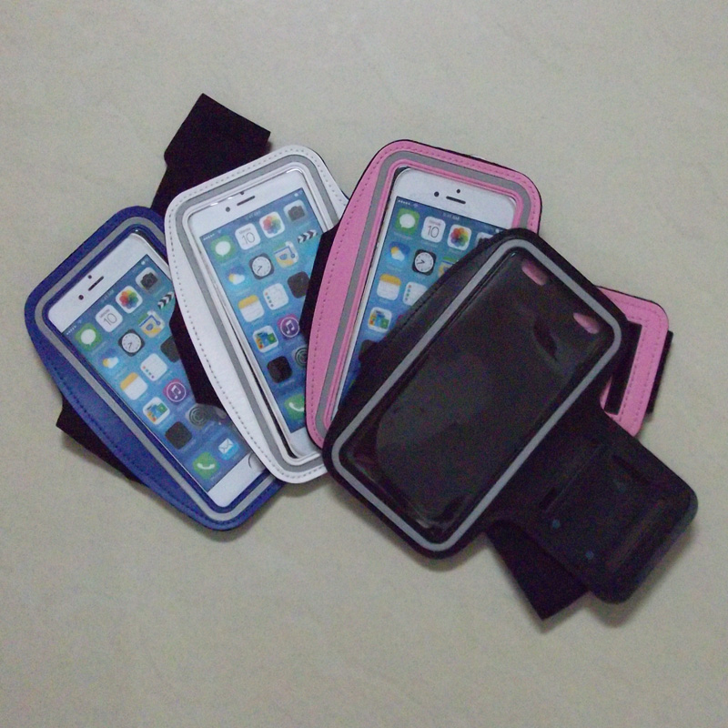 imágenes para 100 unids/lote buena calidad bolsa brazalete para apple iphone 7 4.7 ''sports running brazaletes caja de dhl sherrytree