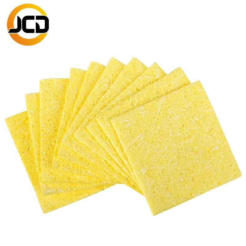 10PCS/bag Quality Welding Soldering Iron Tips Cleaning Sponge Cleaner Pads Cleaner Sponge Soldering Iron Cleaning Yellow Sponge