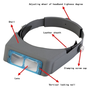 Image 4 - Head Wearing Glasses Magnifier for Low Vision Headband Eyewear Loupe Repair Third Hand Helmet Magnifying Glass Spectacles