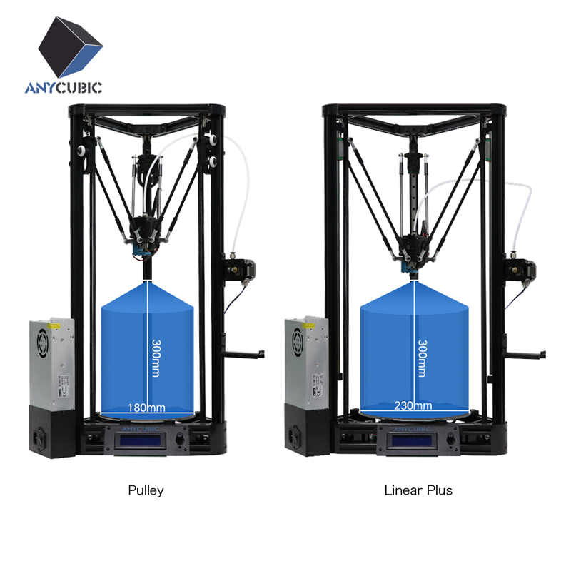 ANYCUBIC 3D Printer Pulley or Linear Plus Half of Assembled with Auto Leveling Large 3D Printing Size Impressora 3D DIY Kit