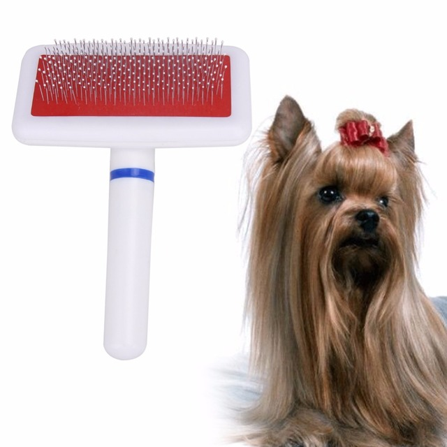 1pc Steel Need Comb For Dog Cat Yokie Gilling Brush Dog Rake Comb