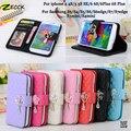 Luxo losango acolchoado Camellia diamante carteira de couro Flip Case capa para Galaxy S4 S5 S6 S7 borda Plus / iPhone 6 6 s Plus 5S se