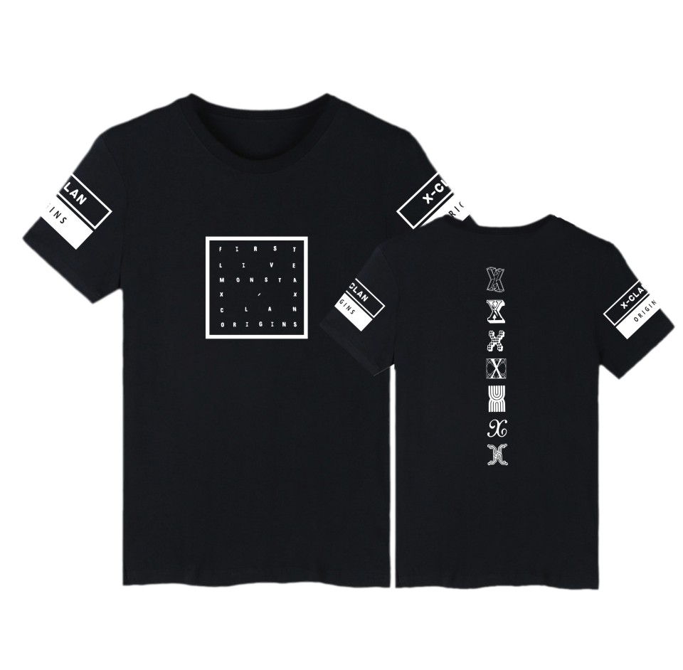Kpop MONSTA X t shirt Summer tops new fashion MONSTA X Clothes Fashion cotton t-shirt Short sleeve Tshirt Plus Size Women Men