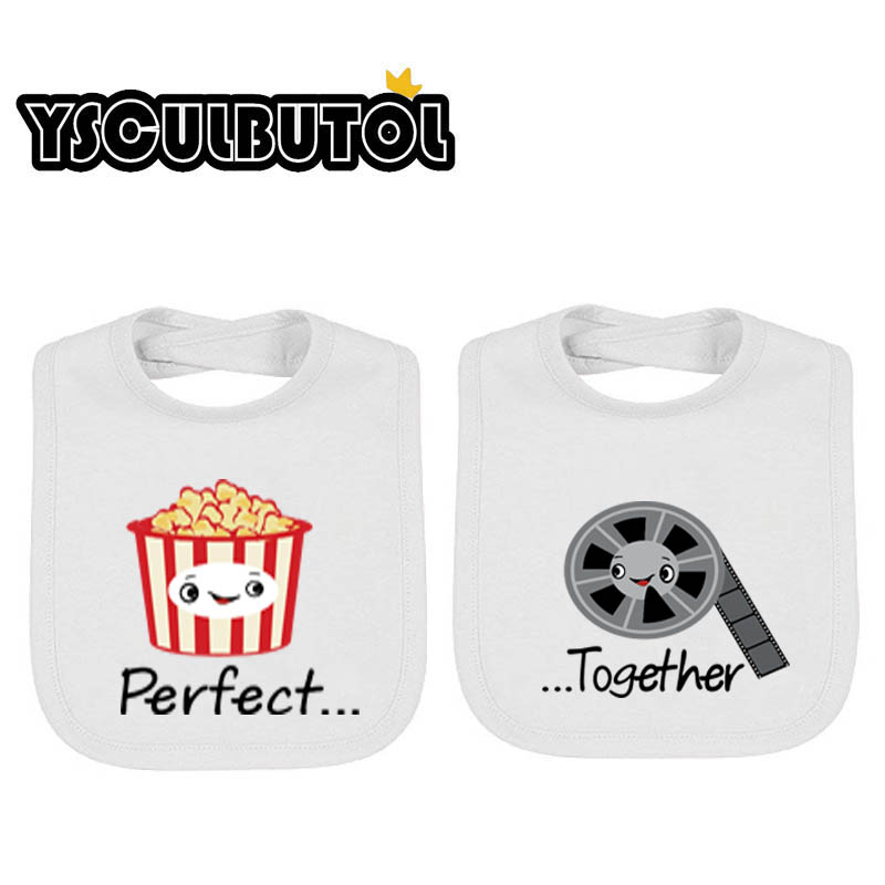 YSCULBUTOL Perfect and Together Twin Set Unisex Newborn Baby Bibs