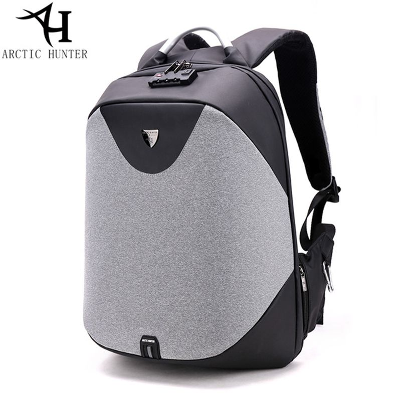 ARCTIC HUNTER School backpack 15.6 laptop backpacks men Waterproof mochila Casual Business Travel Anti theft Backpack Male Bag arctic hunter usb anti theft alarm system backpack male business travel laptop backpack men s casual back pack men bag