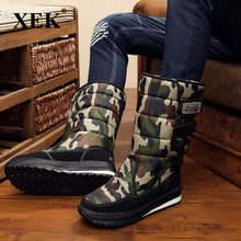 XEK 2018 mannen waterdichte heren Winter snowboots plus size 36-48 outdoor warme Mannen schoenen mode werk schoenen ZLL156(China)