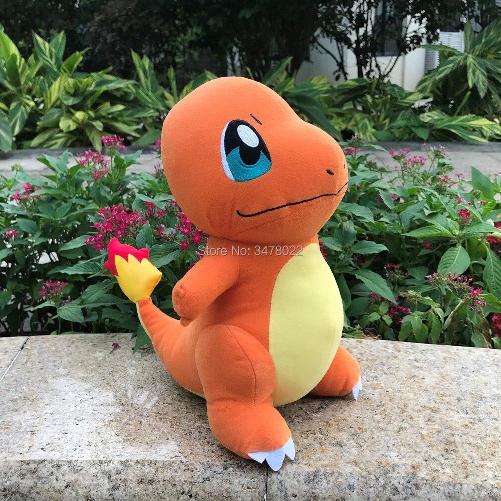 28cm bonito anime charmander pelúcia hitokage dragão recheado brinquedo jogo boneca macia