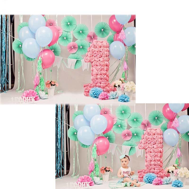 애리조나 신생아 사진 스튜디오 F2751에 대 한 생일 파티 폴리 에스터 배경에 대 한 풍선 비닐 사진 배경