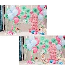 MEHOFOTO Balão Fotografia Vinil pano de Fundo Para A Festa de Aniversário Novo Tecido de Flanela Pano de Fundo Para Recém-nascidos photo studio F2751
