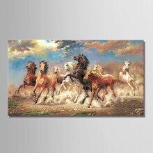 8 бегущая лошадь животные Современная печатная картина маслом на холсте хлопок настенные картины картина для гостиной настенный Декор