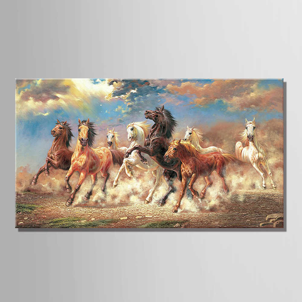 8 Running Horse Animal Modern Printed Oil Painting On Canvas Cotton Wall Paintings Picture For Living Room Wall Art Wall Decor
