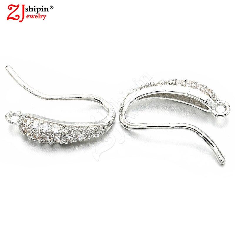 26f90f7cd654 ZJSHIPIN nuevo encanto micro-con incrustaciones de zircon CZ pendientes  gancho para la oreja de accesorios de joyería adecuado para DIY borla de la  joyería ...