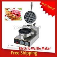 Горячие Sale_Commercial вафельные машины одной головкой вафельные пекарня, кухня прибор закуски устройство из нержавеющей Steel_FREE доставка