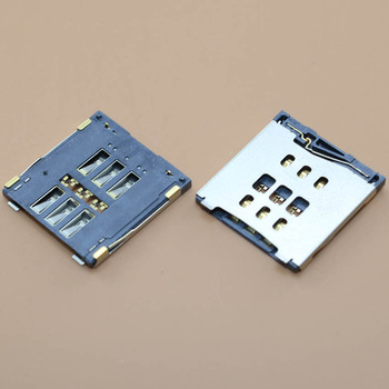 YuXi 1pcs/lot Brand New For iPhone 6 6G 6plus SIM Card reader Tray Slot Holder socket connector image