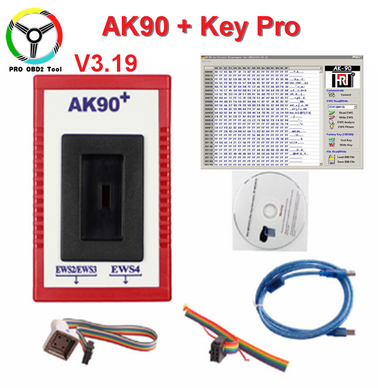 2018 Latest V3.19 AK90 For BMW AK90+AK90 Key Programmer Tool For All BMW EWS AK 90 Key Maker AK-90 With Car Styling Free Ship promotion newest ak90 key programmer ak90 pro key maker for b m w all ews version v3 19 plus ak90 with free shipping