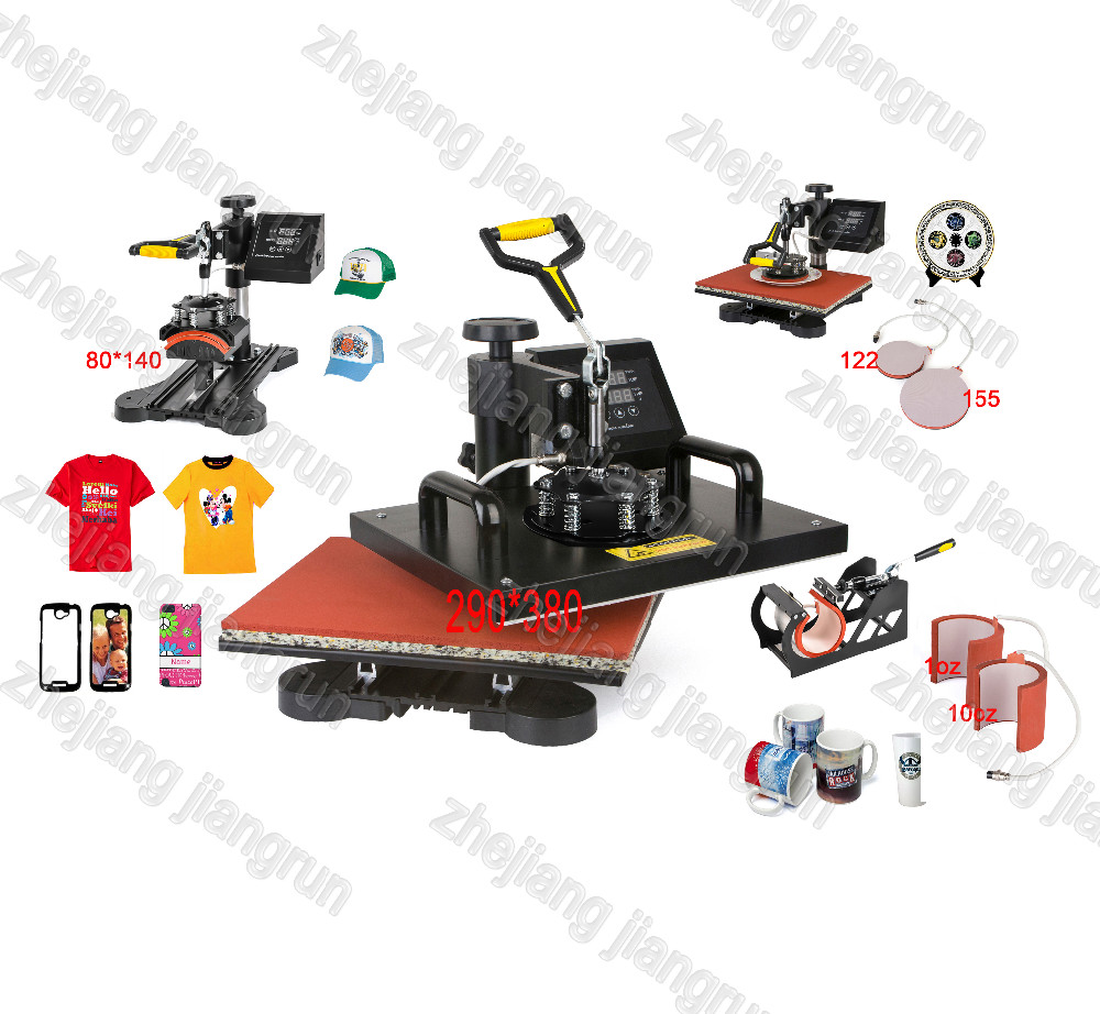 New design 4 in 1 heat press heat transfer machine t shirt for Thermal transfer printing equipment for t shirt