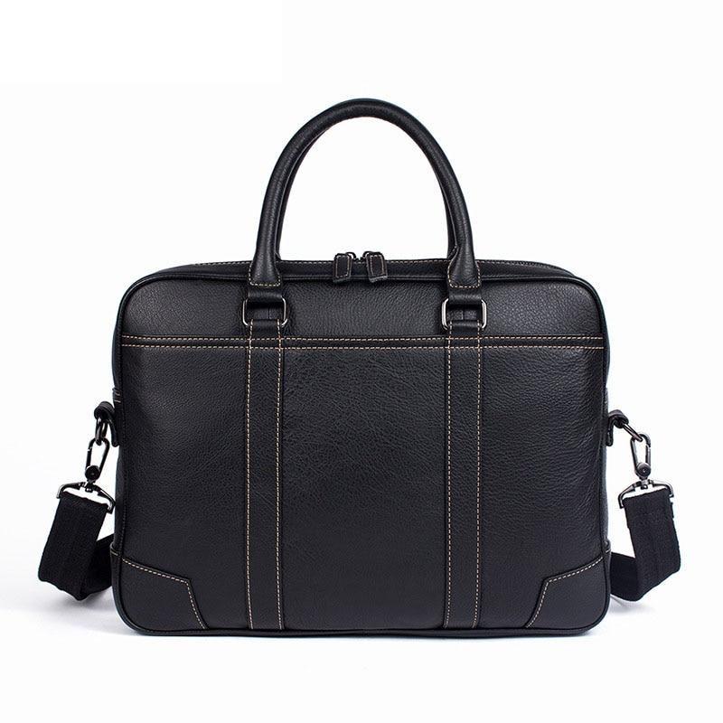 Fresh and fashionable Genuine Leather mens laptop Briefcase leather soft shoulder bag designer handbags high quality men bag
