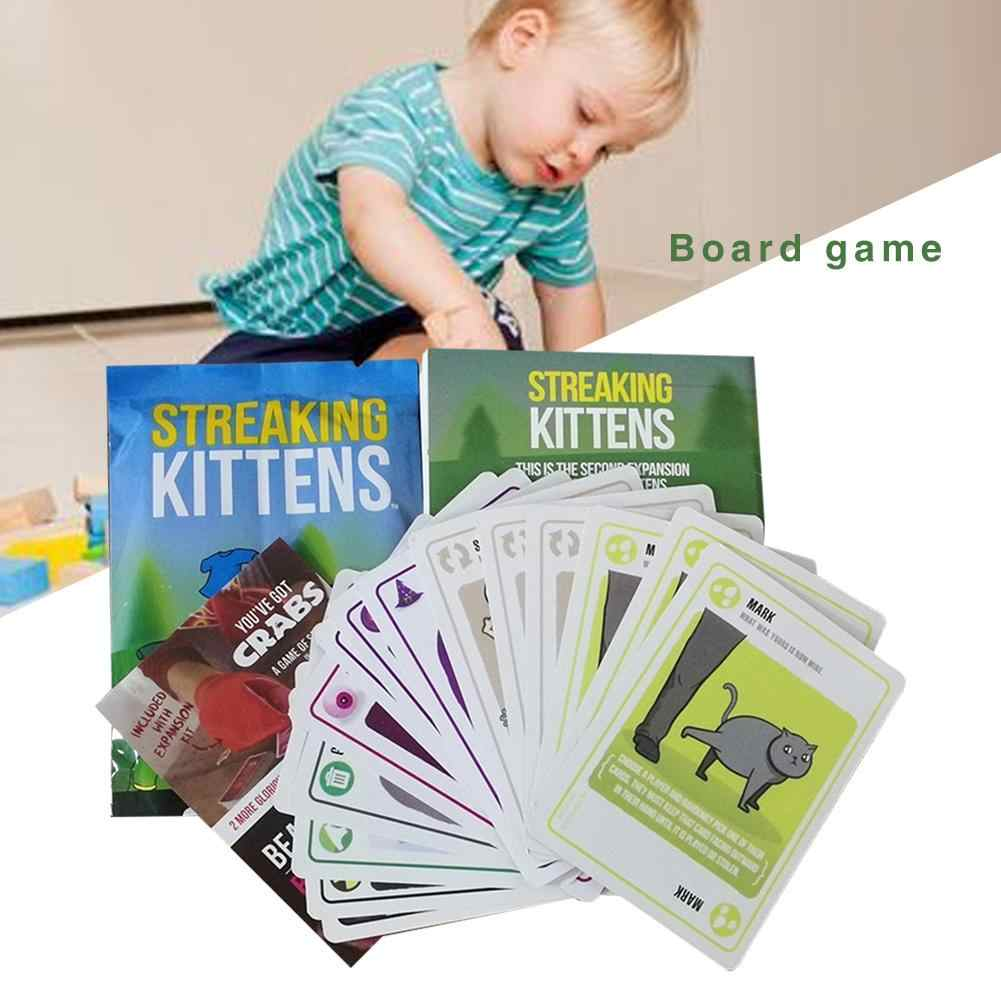 Strepen Kittens Board Game Funny Games Gelukkig Innovatieve kinderen Puzzel Kaarten Kittens Party Pack Game Strepen Kitty Board