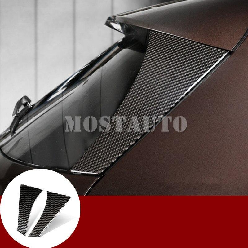 Pour Benz GLA X156 Carbone fibre Arrière Fenêtre Pilier revêtement d'habillage 2013-2018 2 pièces