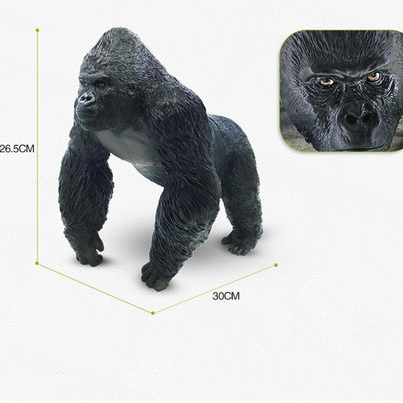 Kong: crâne île Simulation gorille colle souple dessin animé Animal sauvage Action figurine Collection modèle jouet X636 - 2